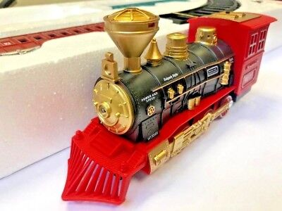 Super Rail King Kids Classical Train Track Set With Functions Light Smoke Sound