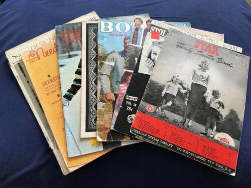 BK50 KNITTING MACHINE PATTERN BOOKS SET OF 8 VINTAGE RETRO 1950S 1960S MAGAZINES