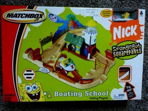 Matchbox SpongeBob Talking Playset Boating School W/Boat Car Patrick New 2004
