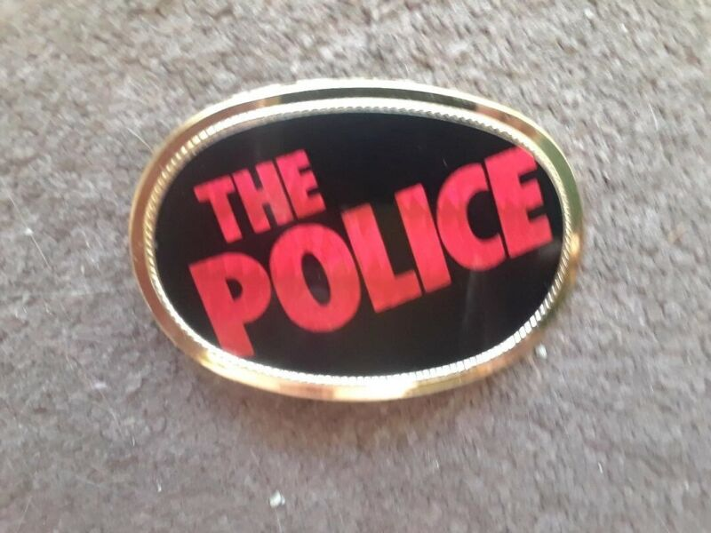 VINTAGE 1978 THE POLICE PACIFICA BELT BUCKLE MEGA RARE MINT HTF