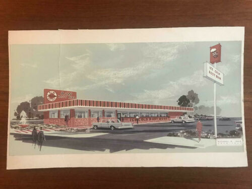 A&W Root Beer Restaurant Architectural Drawing 1960