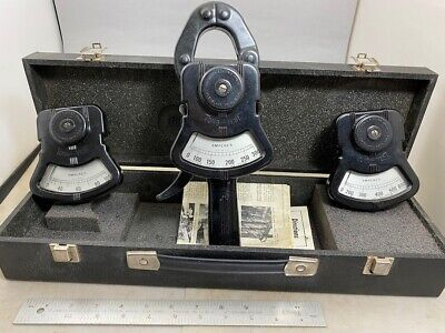 Columbia Electric Tong Test Ammeter 3 Scale Ranges Instructions Case Free Ship