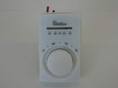 Robertshaw 803a Line Voltage Thermostat W Thermometer M601-25 - New Surplus