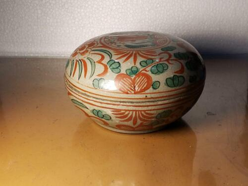 SOUTHEAST ASIA COVERED CONTAINER POTTERY - CHINESE SWATOW WARE?