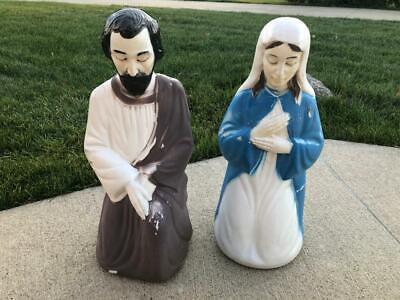 Vintage Empire Christmas Blow Mold Nativity Set Mary and Joseph