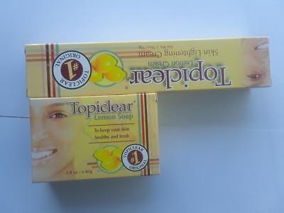 Topiclear Lemon Skin Lightening Cream 1.76 oz & Topiclear Lemon Soap 3.0 oz