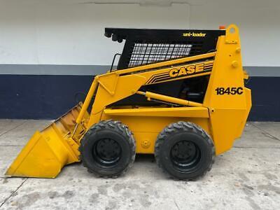 Case 1845c Skid Steer Loader Cummins Diesel 1100 Hours 1993 Rebuilt Nice Unit