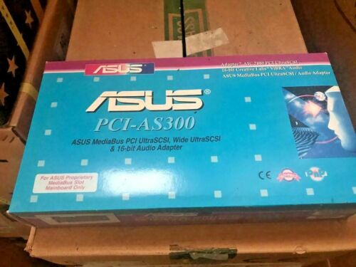 VINTAGE ASUS PCI-AS300 MediaBus Media Bus Vibra 16C Sound Card and SCSI ADAPTER