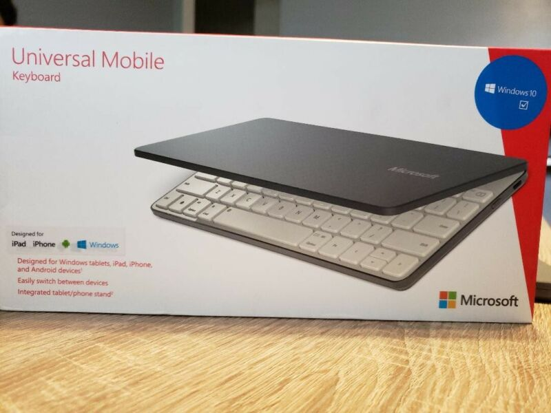 Microsoft Universal Mobile Wireless Keyboard for iPad iPhone Android  Windows
