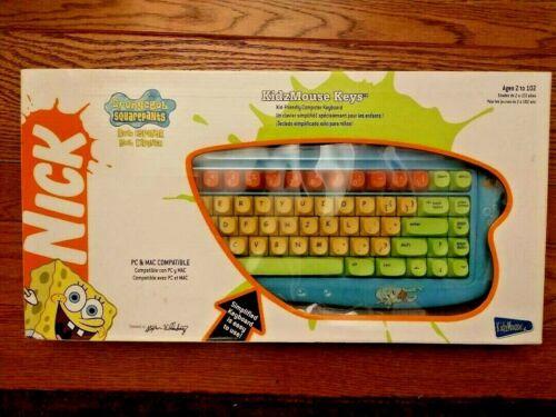 *RARE* Spongebob Squarepants Kids Mechanical Clicky USB Keyboard NEW NIB * 2004