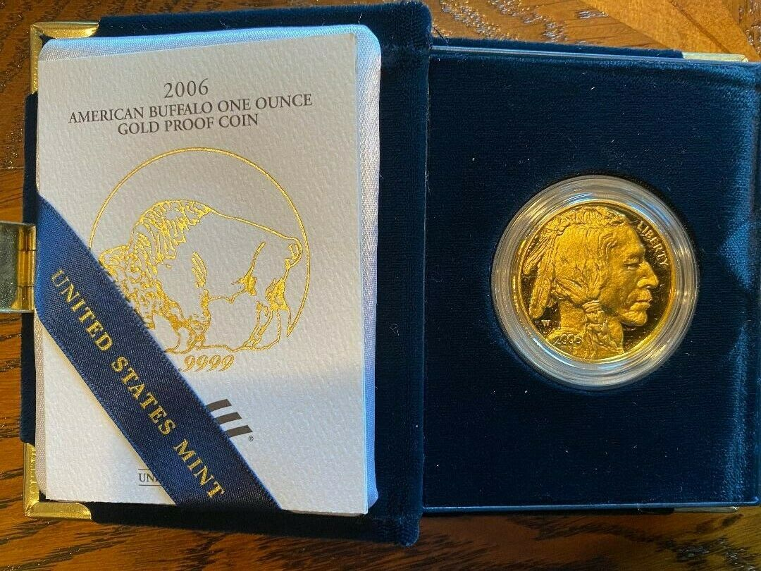 2006 American Buffalo 1 Oz. Gold Proof Coin - West Point Mint - Marked W  - $1,966.00