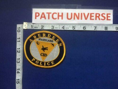 VINTAGE ABERDEEN MD POLICE CID SHOULDER PATCH       D076
