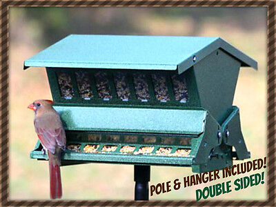 Woodlink Absolute II SQUIRREL PROOF Bird Feeder GRN Model 7536 POLE/HANGER INCL!