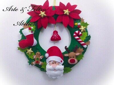 Ghirlanda natalizia/Fuoriporta Natalizio / Fatto a mano/ Decorazione Natalizia