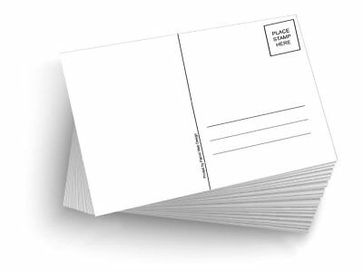 50 Blank Mailable 4x6 Heavy Duty 14pt Postcards With Mailing Side