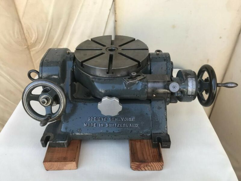 """SIP Type PI-3, 9"""" Precision Tilting Rotary Table, Societe Genevoise, Swiss Made"""