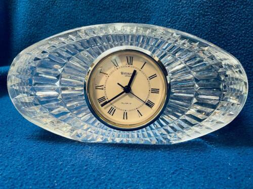 """Waterford Crystal Table Clock - 8"""" Wide"""