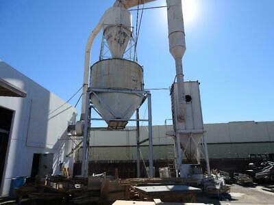 50 Hp Dust Collector Wcyclone And Bag House Woodworking Machinery