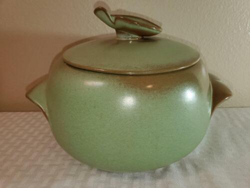FRANKOMA Pottery, Prairie Green Plainsman Bean Bot Dish w/Lid 4V