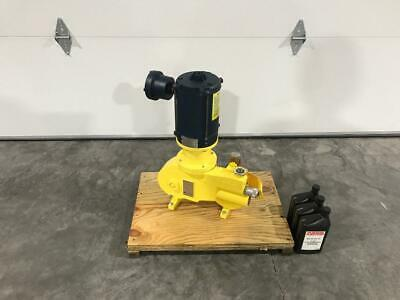 Milton Roy Rb1125frsesealnn Metering Pump W Leeson Fvja6t17ec22hp Motor New