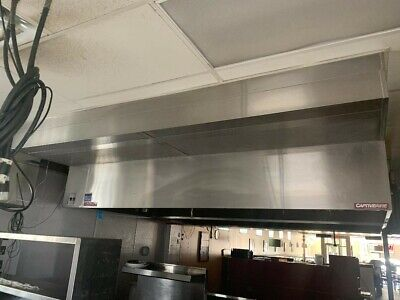 Captiveaire Hood With Exhaust Fan Tempered Makeup Air Used Good Condition