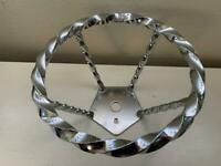 "NEW LOWRIDER STEERING WHEEL FULL DOUBLE TWISTED SWIRL 6/"" DIAMETER CRUISER BIKES!"