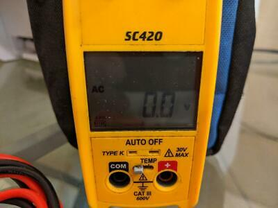 Fieldpiece Sc420 Clamp Meter W Leads Case