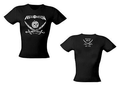 HELLOWEEN - Pirate - Girlie Girl Damen Woman Shirt - Größe Size S - NEU