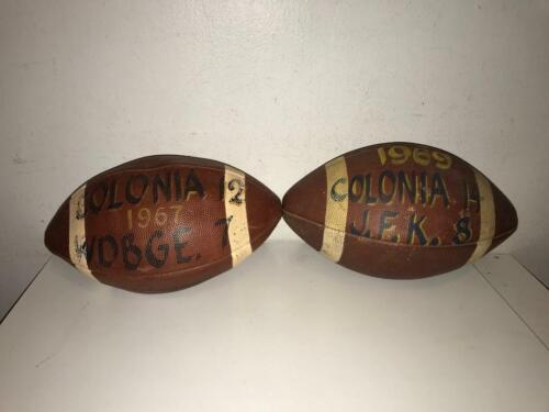 Pair of 1960s Colonia New Jersey High School Game Ball Used Footballs