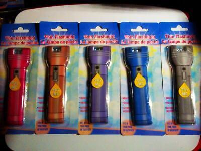 New Lot of 2 Thin Mini Flat Flashlight BRIGHT LED Directional Light Magnetic](Flat Flashlight)