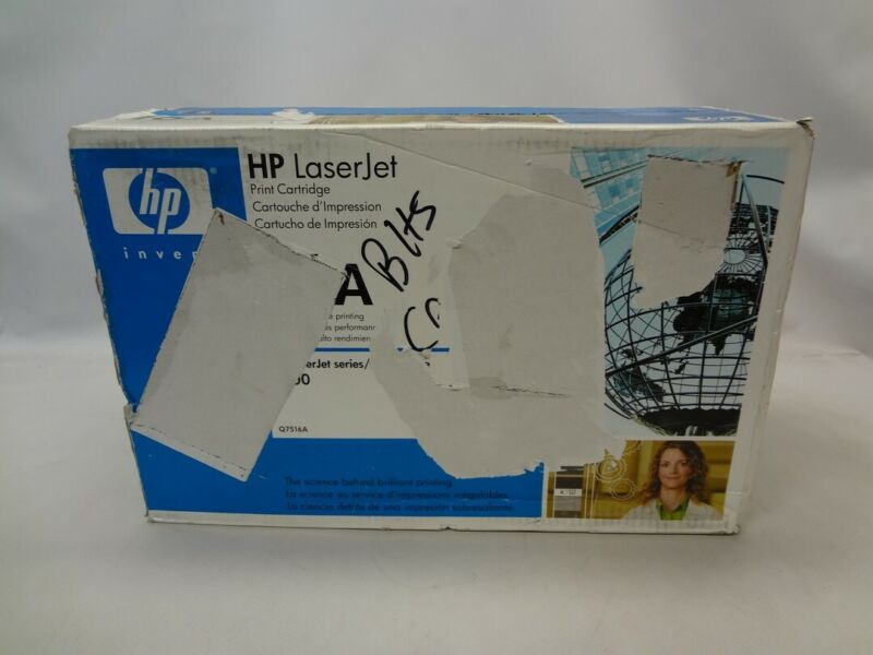 Genuine HP Q7516A Black Toner Print Cartridge *Damaged Box New Unused*