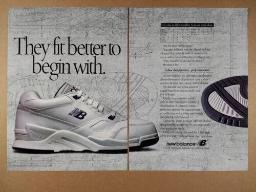 1992 New Balance CXT CT WCT Tennis Shoes vintage print Ad