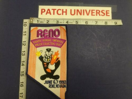 EIGHTH ANNUAL NATIONAL POLICE COLLECTORS MEET PATCH RENO NEVADA     E025