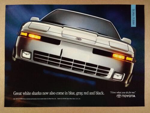 1992 Toyota Supra Turbo vintage print Ad