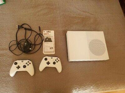 Microsoft Xbox One S 1TB Console - White Includes 2 Controllers