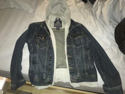Hooded Denim Jacket from American Rag Cie SIZE M for sale  Shipping to India