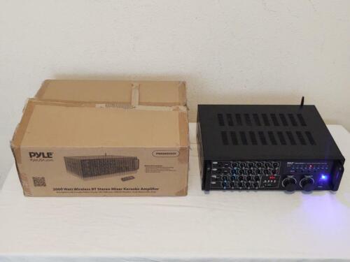 Pyle PMXAKB2000 - 2000 Watt Wireless Bluetooth Stereo Mixer Karaoke Amplifier