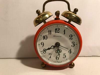 Vintage, Mini, Bright Red, Blessing Miniature Alarm Clock, Made In West Germany