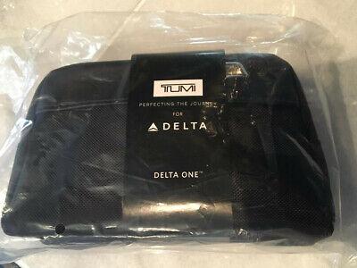 NEW, unopened, in-bag, TUMI DELTA ONE SOFT BLACK AMENITY KIT.
