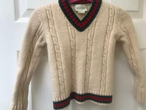 Gucci kids sweater creamy Wool Crew Neck size 5 authentic