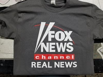 Fox News Channel Real News T Shirt Clothing Trump Charcoal Gray Fake Cnn Msnbc