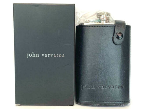 JOHN VARVATOS Exclusive FLASK with Leather Holder NEW IN BOX Limited Edition