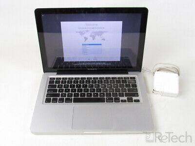 "Apple MacBook Pro 5,5 A1278 Core 2 Duo 8GB RAM 500GB 13.3"" MB990LL/A BAD BATTERY"