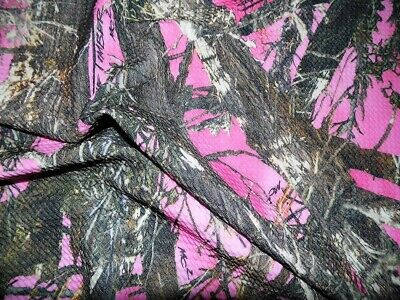 Printed Bullet Liverpool Textured True Timber Pink MC2 camouflage Fabric S24 -
