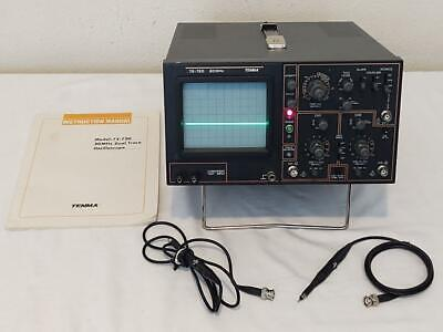 Vintage Tenma 72-720 20mhz Oscilloscope With Manual And Probes