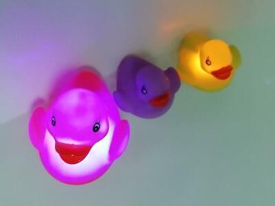 Badeenten mit LED 3-er Set