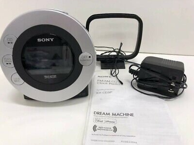 SONY Dream Machine alarm clock CD IPod iPhone Radio ICFCD3iP