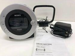 SONY Dream Machine alarm clock CD IPod iPhone Radio ICFCD3iP