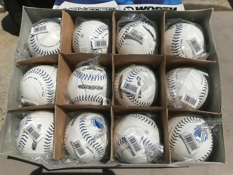 NEW WORTH MAX SPECS SOFTBALLS DOZEN 12IN