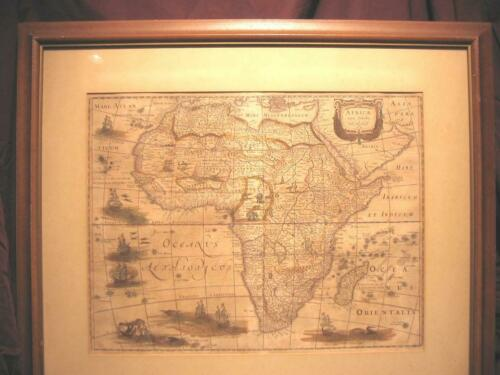 Africae Nova Tabule Africa Map by Jodocus Hondius 1631 Original Print Antique